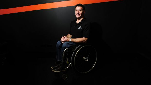 Richard Nicholson has been named the University of Canberra's athlete in residence.