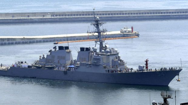 The USS Curtis Wilbur deliberately sailed near one of the Beijing-controlled islands in the hotly contested South China Sea.