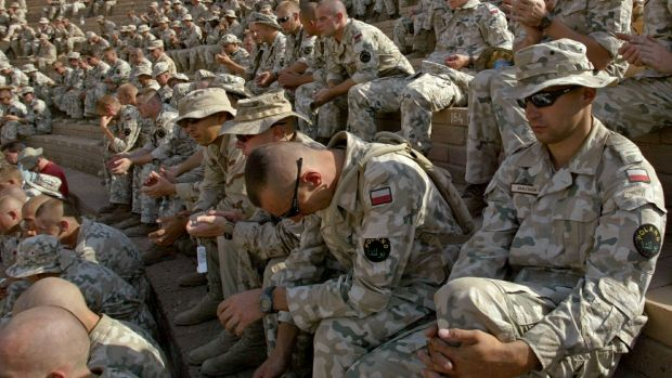 Polish soldiers in Babylon, Iraq, in 2003. Polish troops are again on their way to the Middle East to join the fight ...