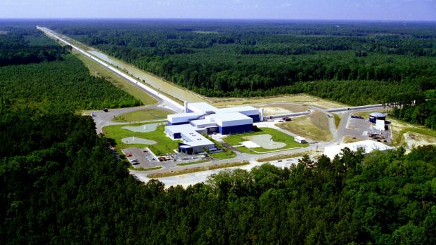 The Laser Interferometer Gravitational-Wave Observatory (LIGO) in Livingston, Louisiana.