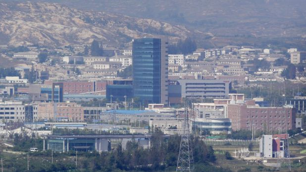 The Kaesong industrial complex, seen from the Dora Observation Post  in Paju, South Korea, near the border village of ...