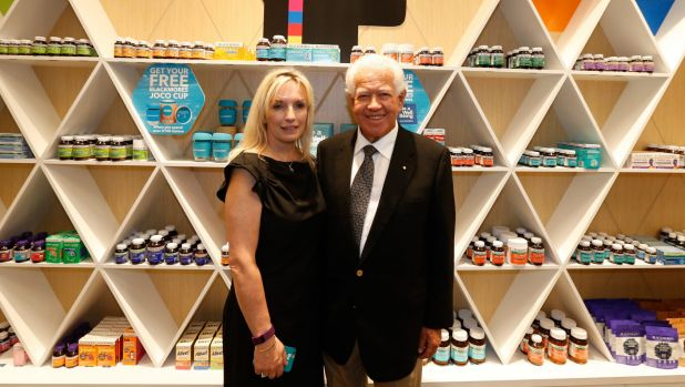 Blackmores chairman Marcus Blackmore and CEO Christine Holgate.