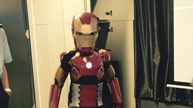 Iron Boy, aka Domenic, ready to help NSW Police.