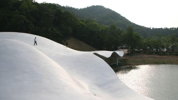 Toyo Ito's Meiso no Mori Municipal Funeral Hall, Gifu, Japan. 2004-06