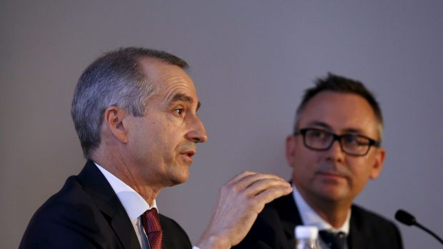 Virgin CEO John Borghetti and Financial Officer Geoff Smith brioef media on the half-year result.