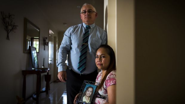 Philip and Arlen Rankin with a photo of their daughter Angelica, now 26, who they have decided to relinquish to the care ...
