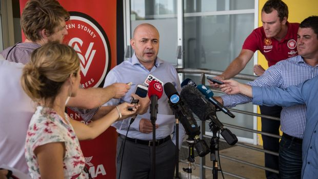 Stay away: Western Sydney Wanderers CEO John Tsatsimas tells troublesome fans they are not welcome at the club.