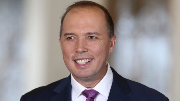Immigration Minister Peter Dutton, whose department has produced a telemovies to deter asylum seekers.