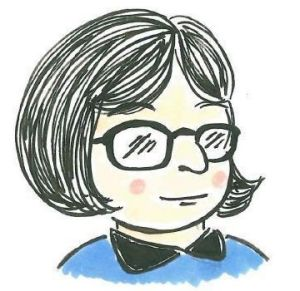 A self-portrait by author/illustrator Kate Gavino.