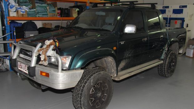 Police are appealing for anyone who may have seen this ute near Bega Road, Eurora Street or Mudgee Street on the evening ...
