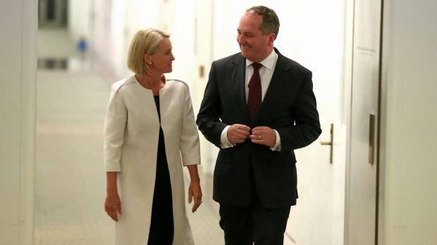 Nationals new leadership team: Minister for Rural Health Fiona Nash and Agriculture Minister Barnaby Joyce.
