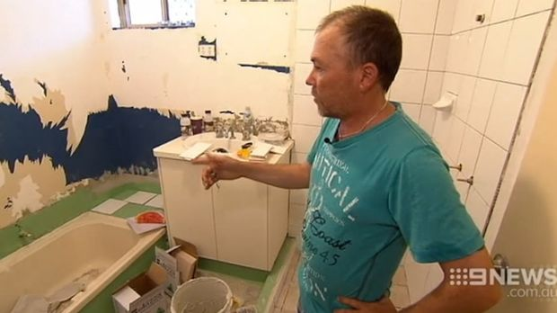 James Newton has been waiting on shower renovations to finish at his South Lake home
