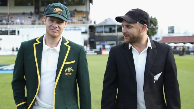 Is everything actually as it seems? Captains Steve Smith and Brendon McCullum.