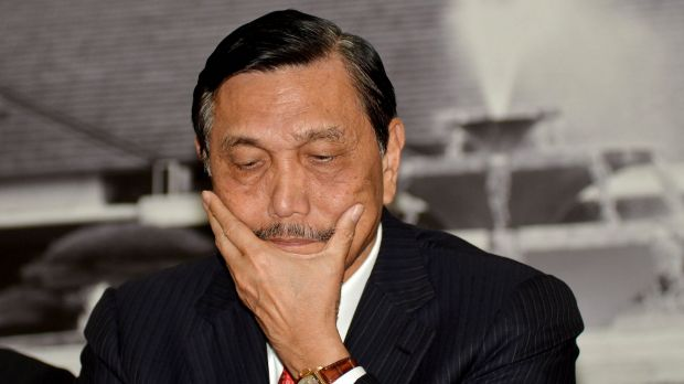 Indonesia's Coordinating Minister for Political, Legal and Security Affairs Luhut Panjaitan in last year.