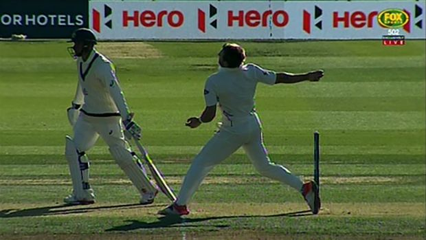 Reprieve: Kiwi paceman Doug Bracewell was ruled to have overstepped his mark.
