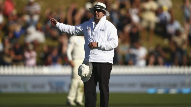 No-ball: Replays showed umpire Richard Illingworth made the wrong call, but the hosts had no avenue to appeal.