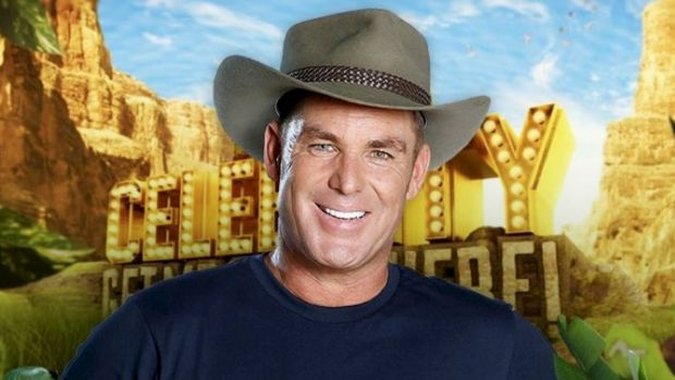 Shane Warne on the set of TV show I'm a Celebrity Get Me Out Of Here.