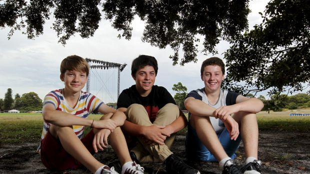 Son of a gun: Liam Alexander (centre), pictured with fellow finalists last year, has made the Trop Jr finals for the ...