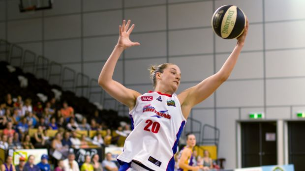 Adelaide's Kayla Standish pulls in a rebound against Melbourne Boomers.