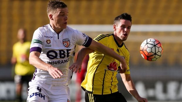 Playing smart: Glory defender Shane Lowry is an 'old-school' centre-half who does the basics well.