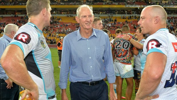 Croker fan: World All Stars coach Wayne Bennett reckons NSW should pick Raiders centre Jarrod Croker for Origin.