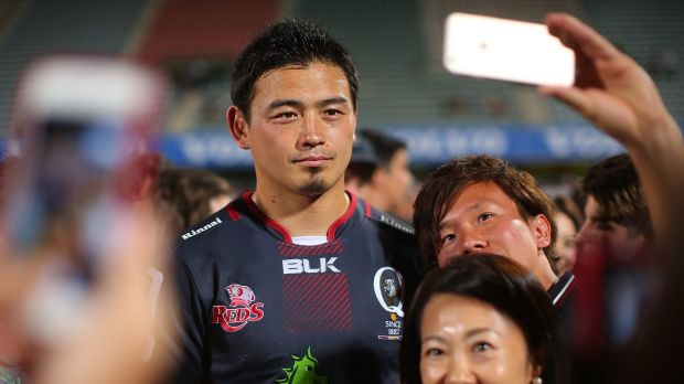 Centre of attention: Reds signing Ayumu Goromaru has become rugby's top earner.