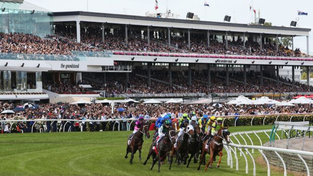 Rounding the bend:  Derby Day at Flemington Racecourse , 2015.