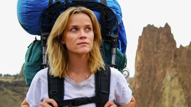 Reese Witherspoon as Cheryl Strayed in <i>Wild</i>.