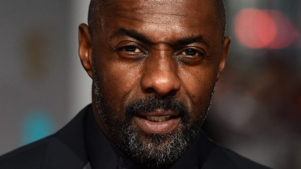 Nominee ... Idris Elba arrives at the BAFTAs in London's Covent Garden.