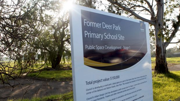 The site of the old Deer Park Primary School was put up for sale in 2014.