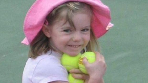 British girl Madeleine McCann, aged 3, before she went missing from a Portuguese holiday complex in 2007.
