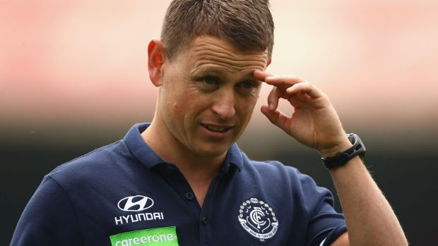 The challenge ahead: New Blues coach Brendon Bolton is leading the 'reset' at Carlton.