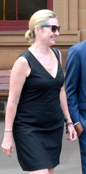 Senior Crown Prosecutor Margaret Cunneen leaves Darlinghurst Court last week.