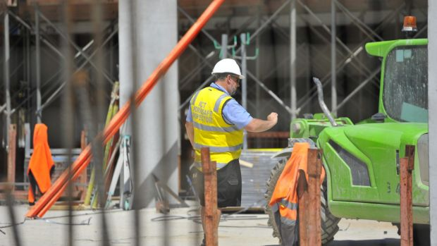 Worksafe ACT staff at a Gungahlin construction site where a man suffered serious injuries on Monday morning.