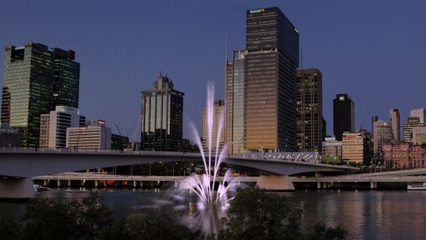 The proposed Daphne Mayo Fountain, which would be built in the Brisbane River near the South Bank forecourt.