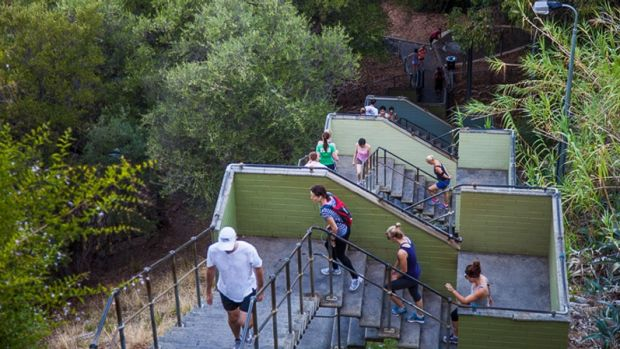 Exercisers will continue to have unrestricted access to Jacob's Ladder.
