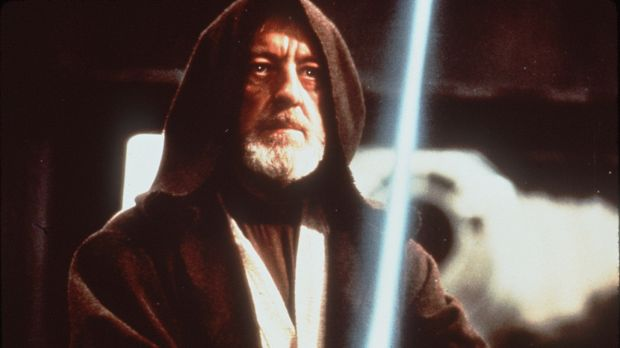 As Obi-Wan in <i>Star Wars</i>, Sir Alec Guinness used his deep voice to create a booming authority.
