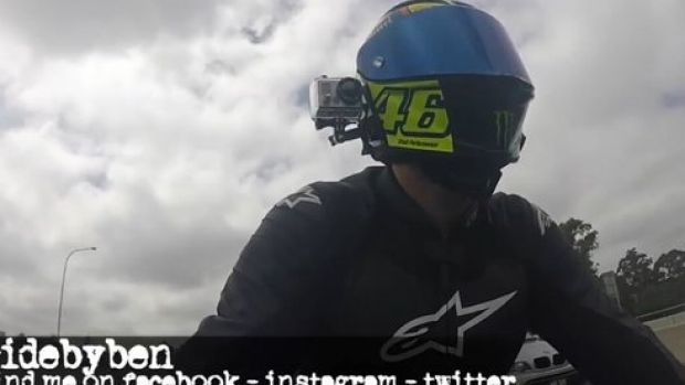 A video blogger known as @RideByBen captured footage of a dangerous rider on Oxford Street.