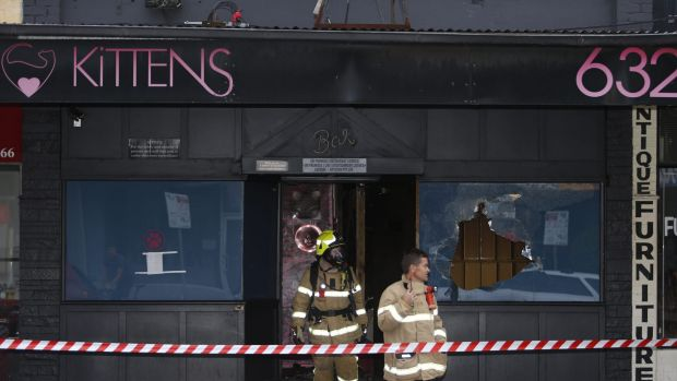 Kittens Club on Glen Huntly Road, Caulfield South was hit by an arson attack in February.