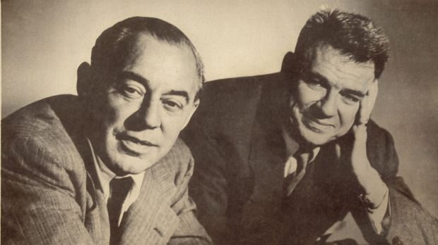 Composer Richard Rodgers, left, and lyricist Oscar Hammerstein II in 1953.