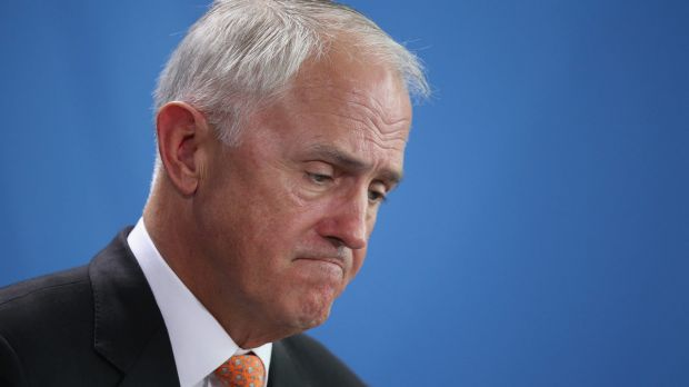 Prime Minister Malcolm Turnbull has taken a hit in the polls.