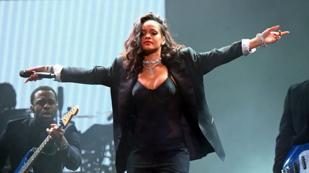 Rihanna, pictured here performing in the US last year.