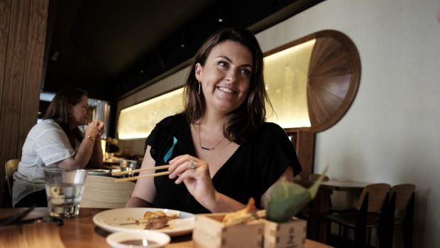 TV chef Karen Martini is seen during lunch with Age journalist Karl Quinn at Toko restaurant in Prahran on January 28, ...