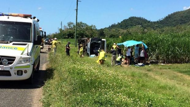 Airlie Beach bus rollover