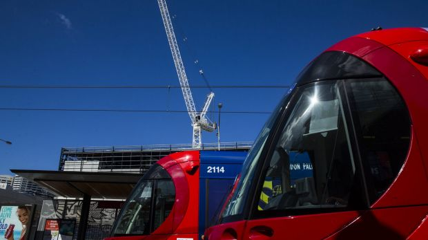 Tram services on the new light rail are due to begin in early 2019.