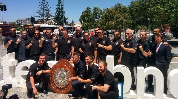 Brisbane Bandits pictured on the day of their Honorary Key to the City award, presented by Mayor Graham Quirk.