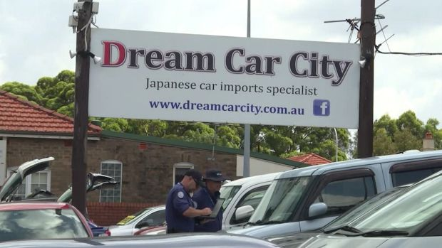 Dream Car City, on Parramatta Road in Haberfield had its licence to operate suspended following raids.