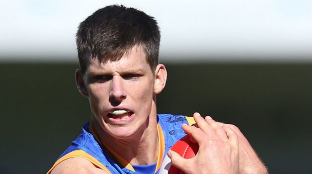 Career doubt: Concussion may end Justin Clarke's playing days at the Brisbane Lions.