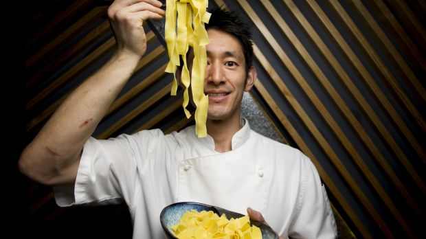 Head chef Shunsuke Ota from Lilotang preparing for the night noodle markets