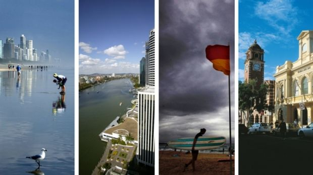 A tale of four cities: Gold Coast, Brisbane, Sunshine Coast, Ipswich.
